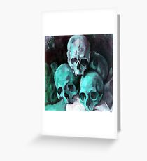 Pyramid of Skulls After Cezanne Greeting Card