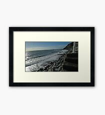 Stairs and sea Framed Print