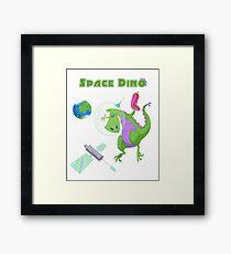 Little Boys & Girls Space Dino T Shirt Framed Print