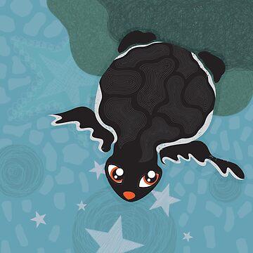 Black Turtle by milicamijacic