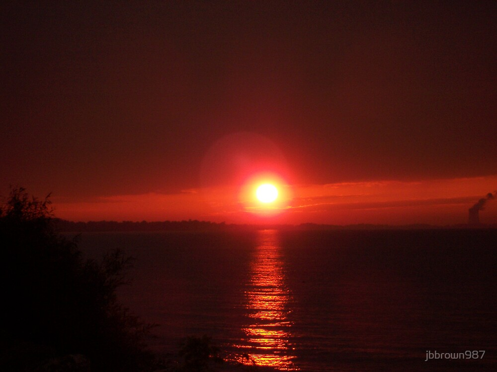 Sunset Over Lake Erie by jbbrown987