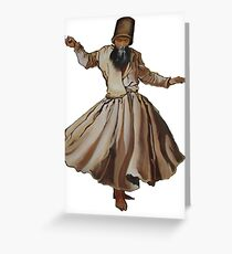 Whirling Dervish Conveys God's Spiritual Gift  Greeting Card