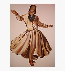 The Remembrance of Allah - A Sufi Whirling Dervish Photographic Print