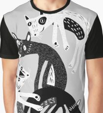 4 cats Graphic T-Shirt