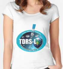 Tracking and Data Relay Satellite 12 Logo Women's Fitted Scoop T-Shirt