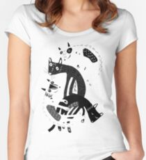 4 cats Women's Fitted Scoop T-Shirt