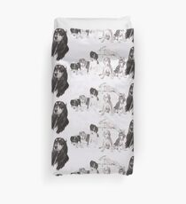 Growing Up Saluki Duvet Cover