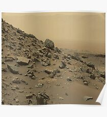 The Surface of Mars (Real) Photograph, Rocks Poster