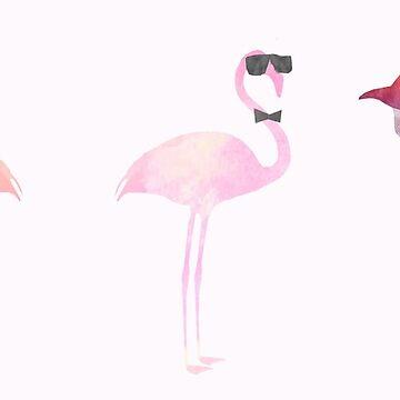 Fancy Flamingos by CloBrim