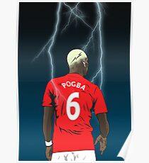 Pogba Lightning Design Poster