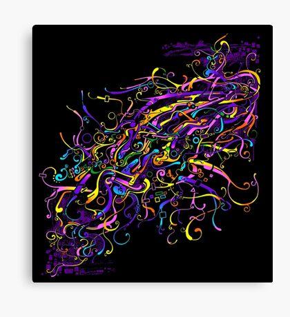 Splash Glass Rattlesnake - Remastered Digital Painting Canvas Print
