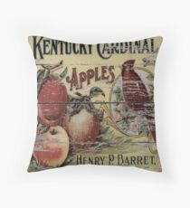 orchard retro advertisement red cardinal french country apple Throw Pillow