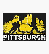Pittsburgh Hockey Black and Yellow Photographic Print