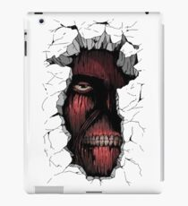 Titan in the Wall iPad Case/Skin