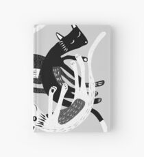 4 cats Hardcover Journal