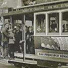 San Francisco Cable Car in B&W by Buckwhite