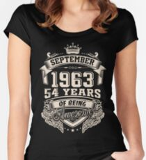 Born In September 1963 Women's Fitted Scoop T-Shirt