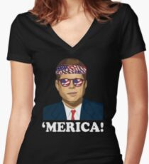 Special Edition `Merica! Women's Fitted V-Neck T-Shirt