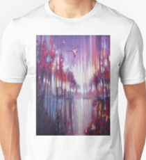 A Beautiful Truth - an abstract Winter landscape with swallows Unisex T-Shirt