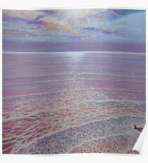 A New Perspective - sunset seascape painting Poster