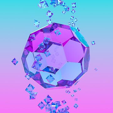 Orbiting Gems Cyan Pink - 3D Design by jeffjag