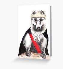 Judge Badger Greeting Card