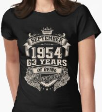 Born In September 1954 Womens Fitted T-Shirt
