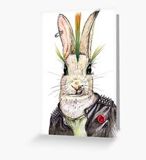 Punk Bunny Greeting Card