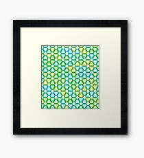Hugging Triangles Framed Print