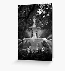Savannah Fountain #1, Georgia Greeting Card