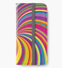 Swirling radial background iPhone Wallet