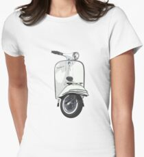 Vintage Vespa 150 - White Womens Fitted T-Shirt