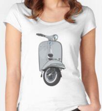 Vintage Vespa 150 - Grey Women's Fitted Scoop T-Shirt