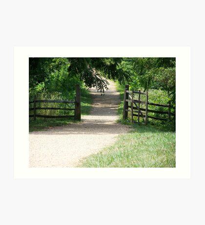 through the gate ... Art Print