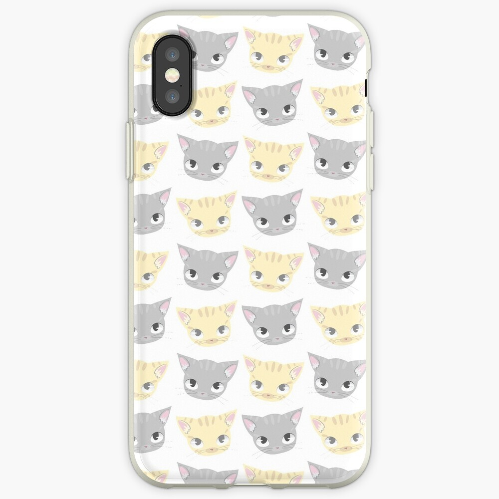 Cute Kitten Face Pattern iPhone Case & Cover