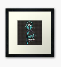 Sketchy Beats Squared Subtract Framed Print