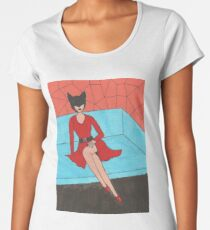 Lady Cat Women's Premium T-Shirt