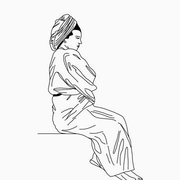 Lady in Bathrobe by karenisme