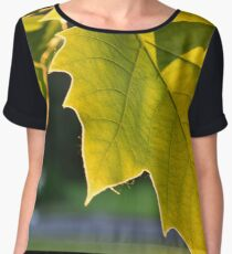 Leaf in the Sunset Women's Chiffon Top
