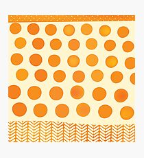 orange DOTS AND PATTERNS Photographic Print