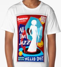 Music poster for jazz band live festival with singer Long T-Shirt
