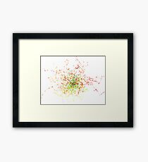 Abstract Fractal Tree Framed Print