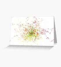 Abstract Fractal Tree Greeting Card