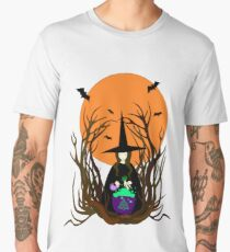 Witch hat preparing a magical potion.  Men's Premium T-Shirt