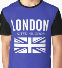 London - United Kingdom with Union Jack Graphic T-Shirt