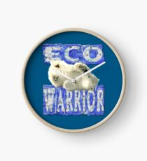 ECO WARRIOR- Polar Bear design Clock