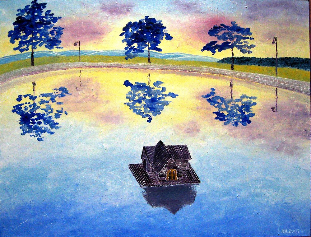 Landscape with Duck house by Alexey Yarygin