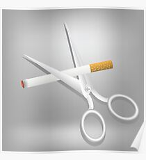 cigarette and scissors Poster