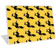 Quot Silhouette Of The Witch Cat Flying On The Broom Quot Stickers