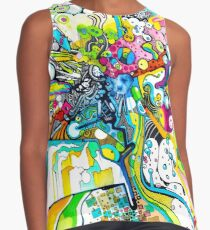 Tubes of Wonder - Abstract Watercolor + Pen Illustration Contrast Tank